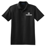 Black Men's Silk Touch Interlock Polo